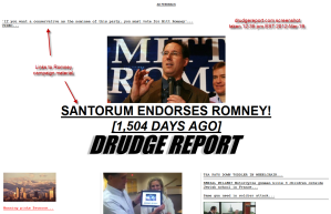 Drudge Campaigns for Romney